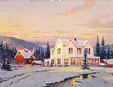 Thomas Kinkade The Lights of Home painting
